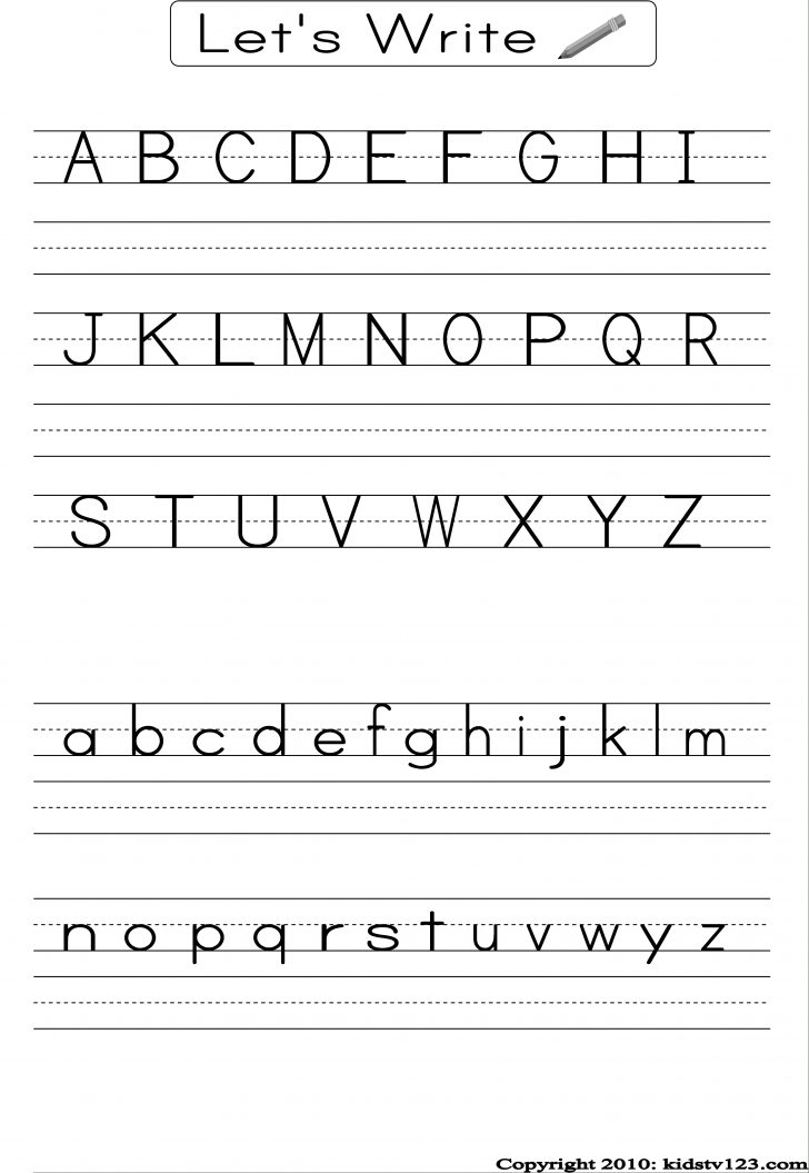 Printable Alphabet Handwriting Worksheets