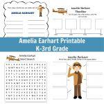 Amelia Earhart Printable   Grades K 3 | Amelia Earhart Free Worksheets Printable