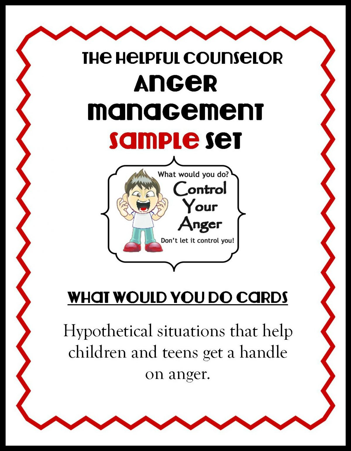 Anger Management Free Printable: Problem Solving - The Helpful Counselor | Anger Management Printable Worksheets