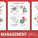 Anger Management Skill Cards (Worksheet) | Therapist Aid | Anger Management Printable Worksheets