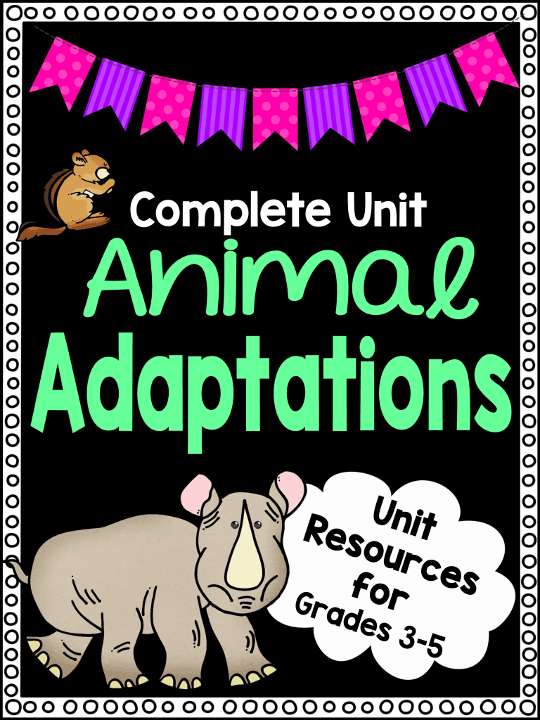 Animal Adaptations Worksheet Unit Plan For Teachers   Free Printable Worksheets Animal Adaptations