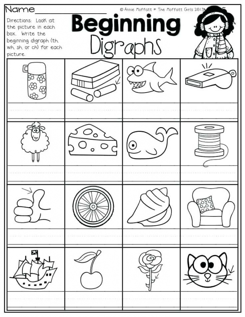 Articulation Worksheets Free Sh Ch Printable Activities For Free | Digraphs Worksheets Free Printables