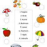Autumn/fall Worksheet Worksheet   Free Esl Printable Worksheets Made | Printable Fall Worksheets