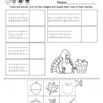 Autumn Worksheet   Free Kindergarten Seasonal Worksheet For Kids | Free Printable Fall Worksheets Kindergarten