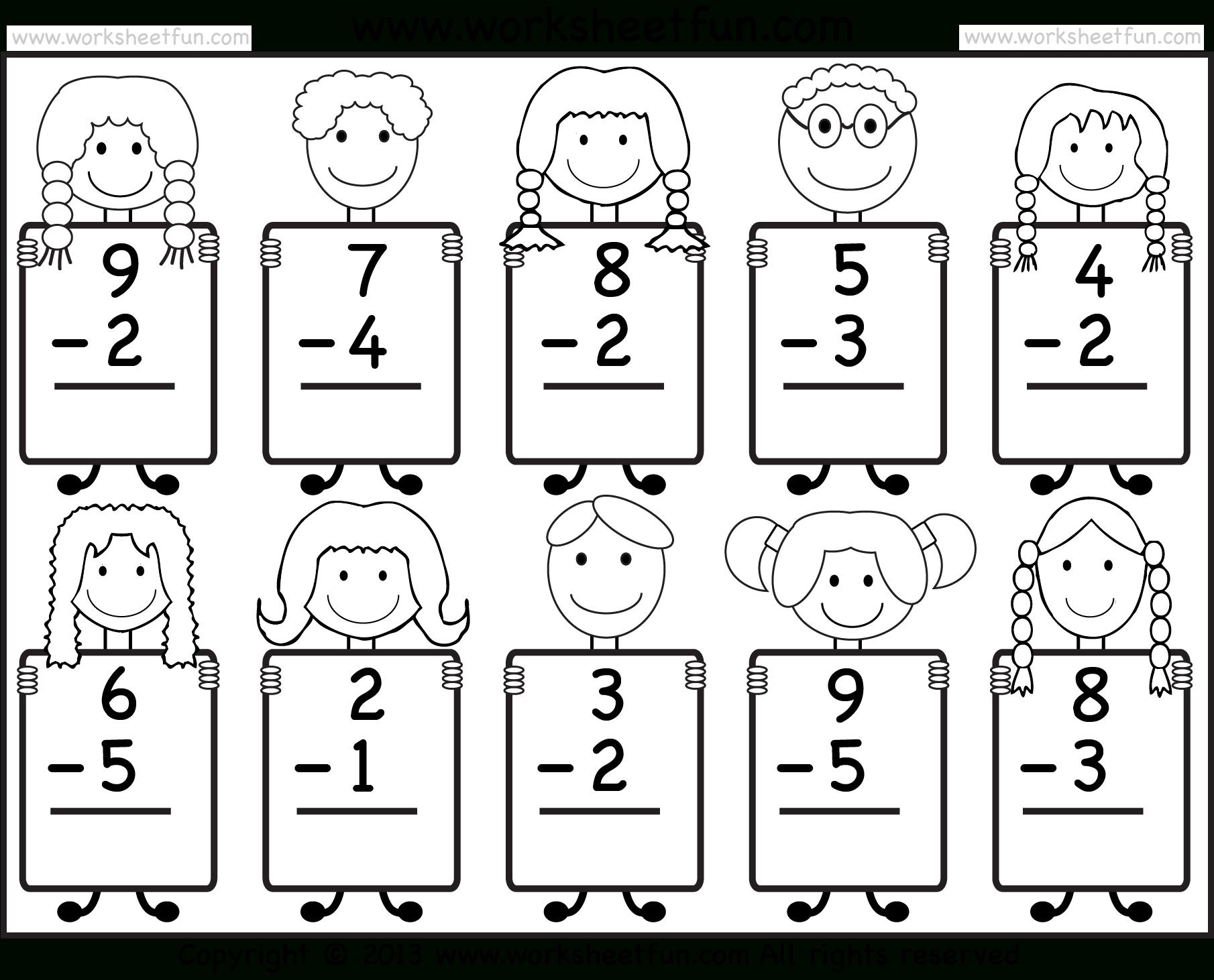 Beginner Subtraction – 10 Kindergarten Subtraction Worksheets / Free | Free Printable Subtraction Worksheets