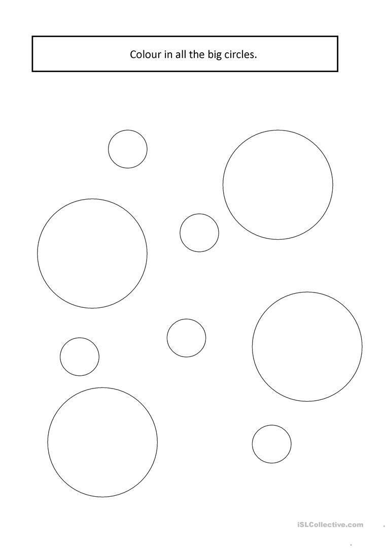 Big & Small Circles Worksheet - Free Esl Printable Worksheets Made   Circle Printable Worksheets