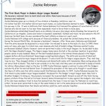 Black History: Jackie Robinson (2 Pages) Worksheet   Free Esl | Free Printable Worksheets On Jackie Robinson
