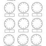 Blank Clock Worksheet Telling Time | Kiddo Shelter | Education | Printable Clock Worksheets