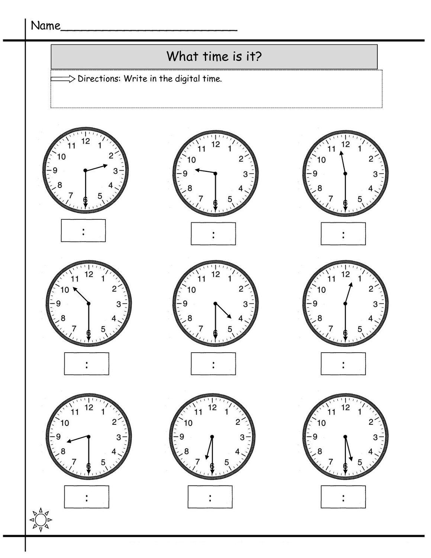 Blank Clock Worksheet To Print | Kids Worksheets Printable | Clock | Kindergarten Clock Worksheet Printables