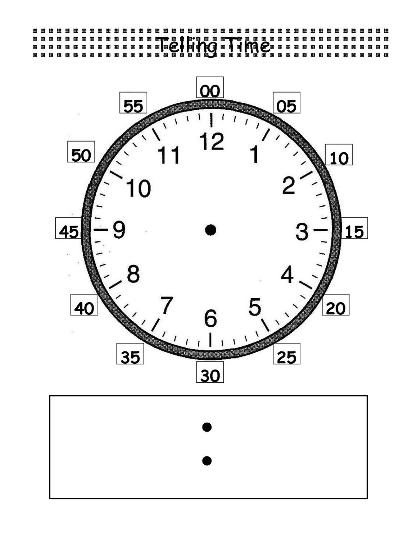 Blank Clock Worksheet To Print | Kids Worksheets Printable | Clock | Printable Clock Worksheets