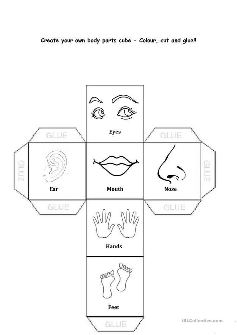 Body Parts Worksheet - Free Esl Printable Worksheets Made | Free Printable Worksheets Kindergarten Body Parts