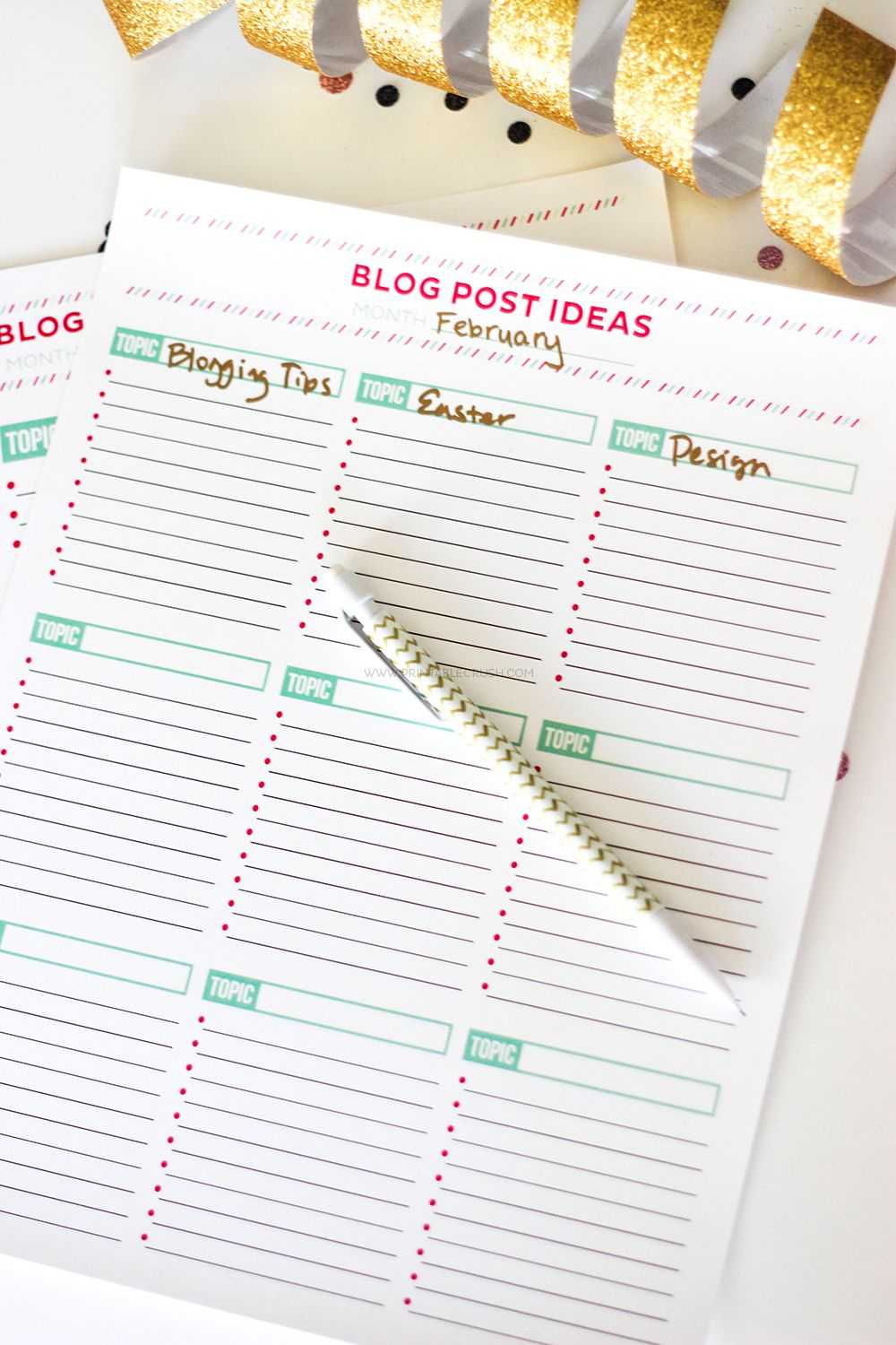 Brainstorm Blog Post Ideas With This Free Printable Worksheet | Blog | Blog Worksheet Printable