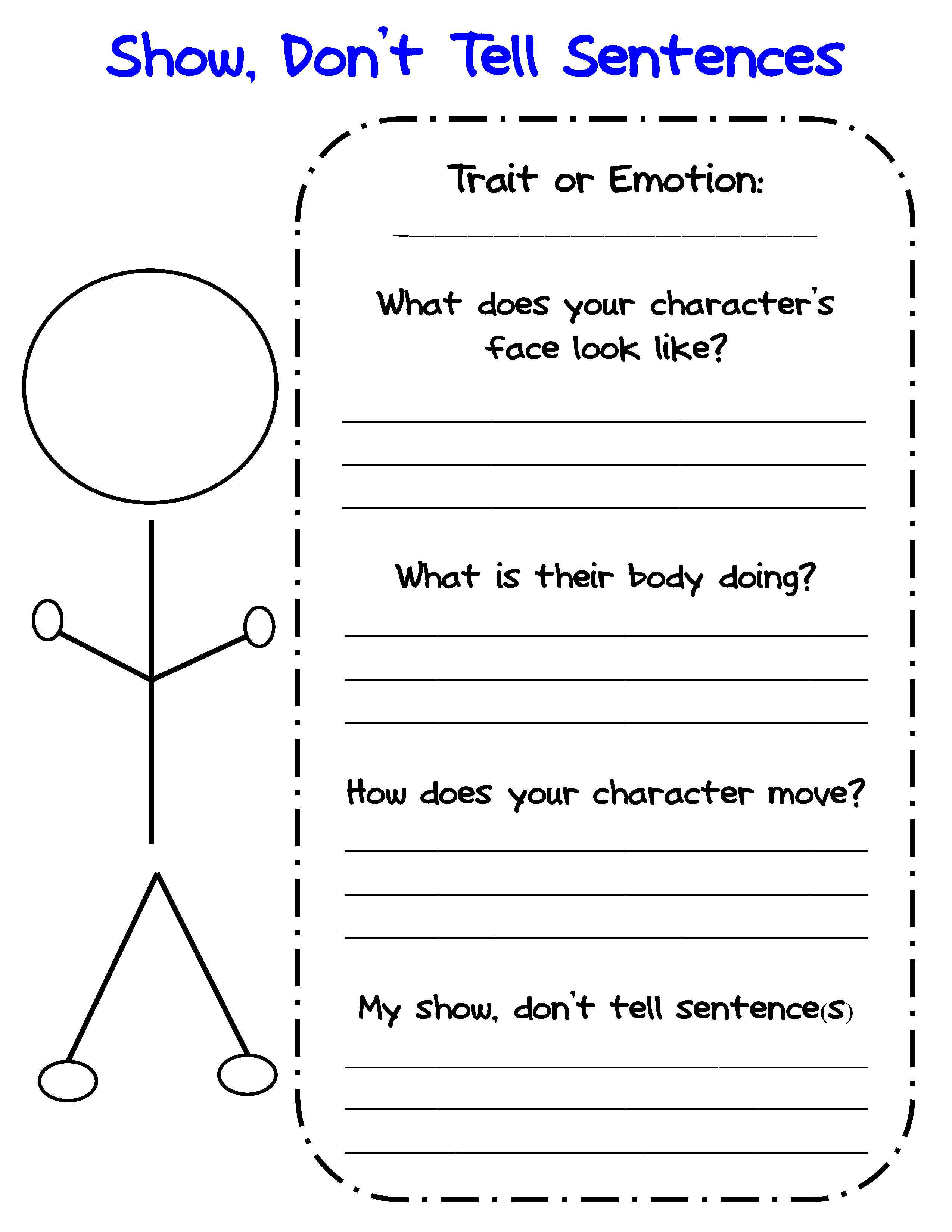 Bringing Characters To Life In Writer's Workshop | Scholastic | Printable Character Traits Worksheets