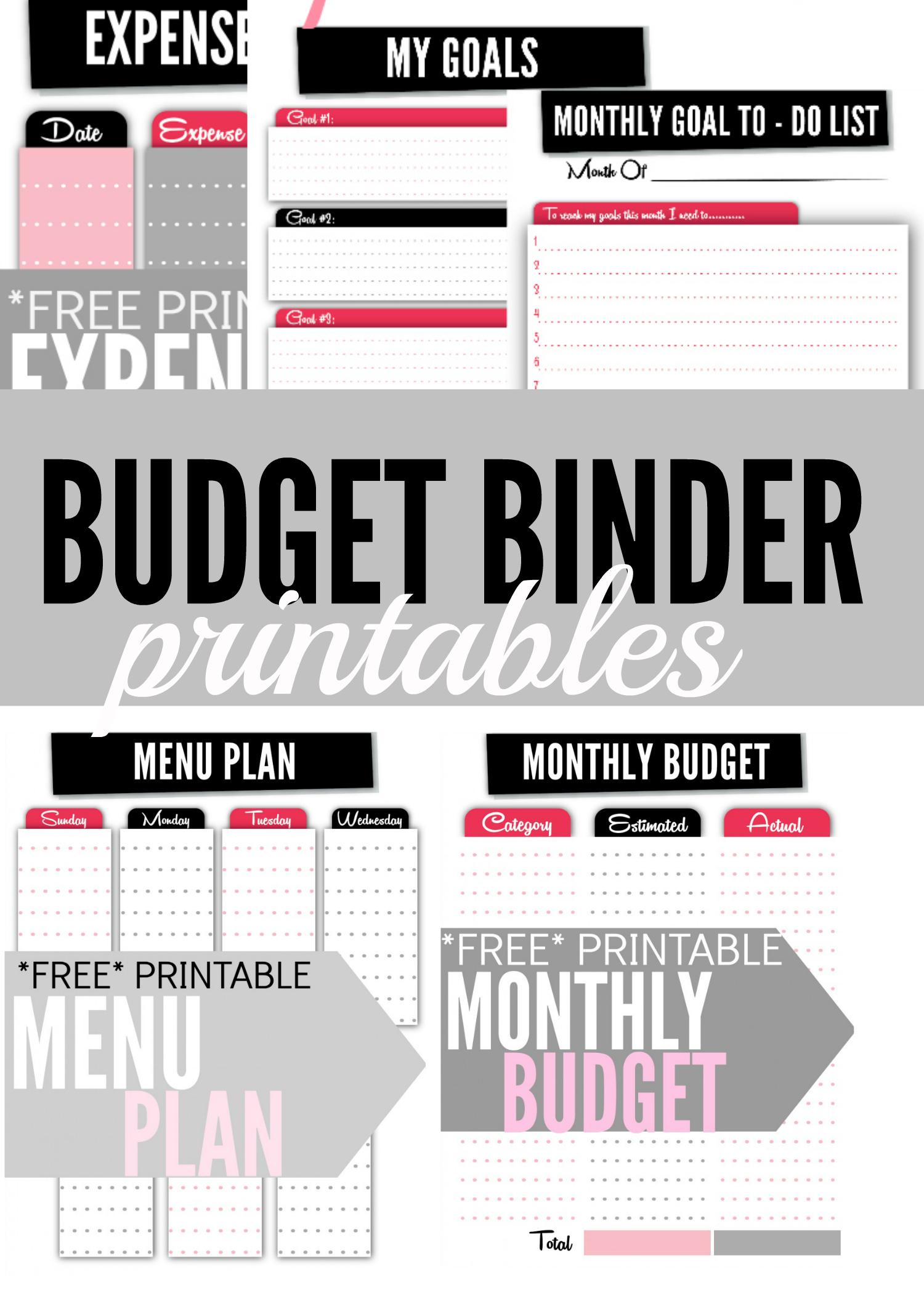 Budget Binder Printables - Single Moms Income | Printable Budget Binder Worksheets