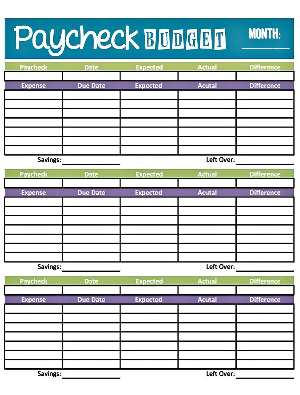 Budget Worksheet Printable | Get Paid Weekly And Charlie Gets Paid | Printable Budget Worksheet