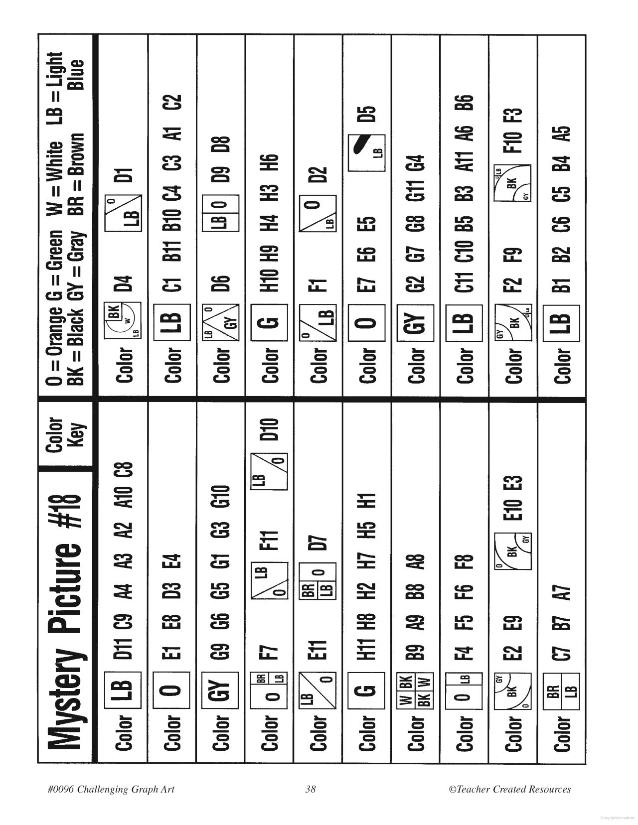Challenging Graph Art | 4Th Grade | Art Worksheets, Map Design | Free Printable Graph Art Worksheets