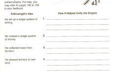 World History Printable Worksheets
