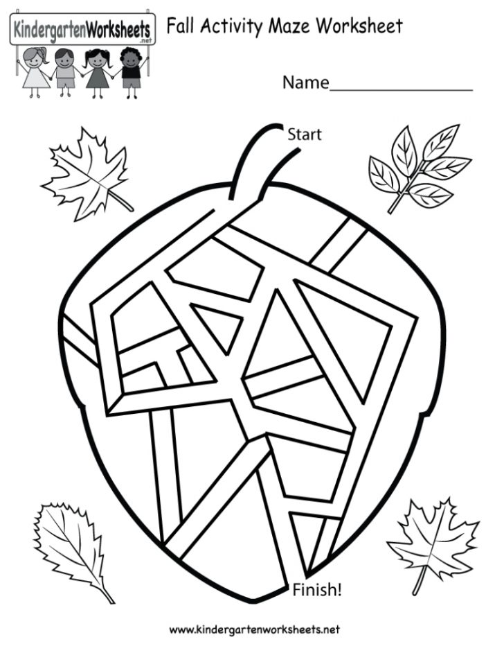 Free Printable Fall Worksheets Kindergarten