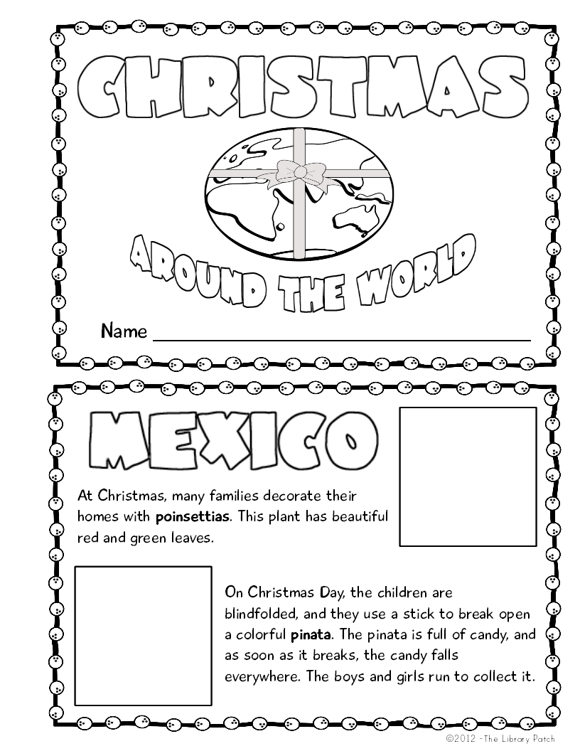Christmas Around The World Mini Book Activity | My Future In | Christmas Around The World Worksheets Printables