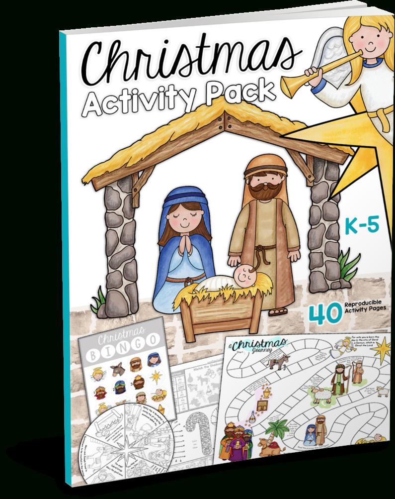 Christmas Bible Printables - Christian Preschool Printables | Christian Christmas Worksheets Printable Free