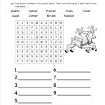 Christmas Worksheets And Printouts   Free Printable Christmas | Free Printable Christmas Worksheets For Third Grade