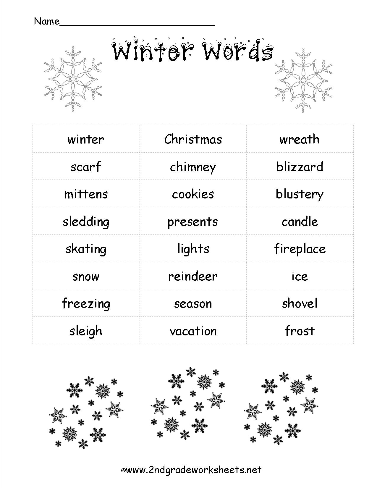 Christmas Worksheets And Printouts - Free Printable Christmas | Free Printable Christmas Worksheets For Third Grade