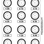 Clock Telling Time Worksheet Printable | Worksheetfun   Free | Free Printable Time Worksheets For Kindergarten