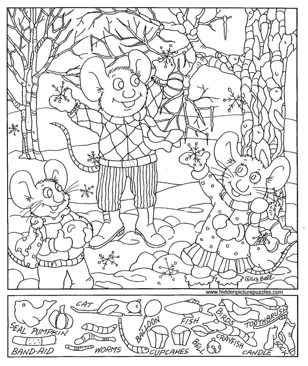 Coloring Page ~ Hidden Pictureoring Pages Christmas Pictures With | Printable Hide And Seek Worksheets