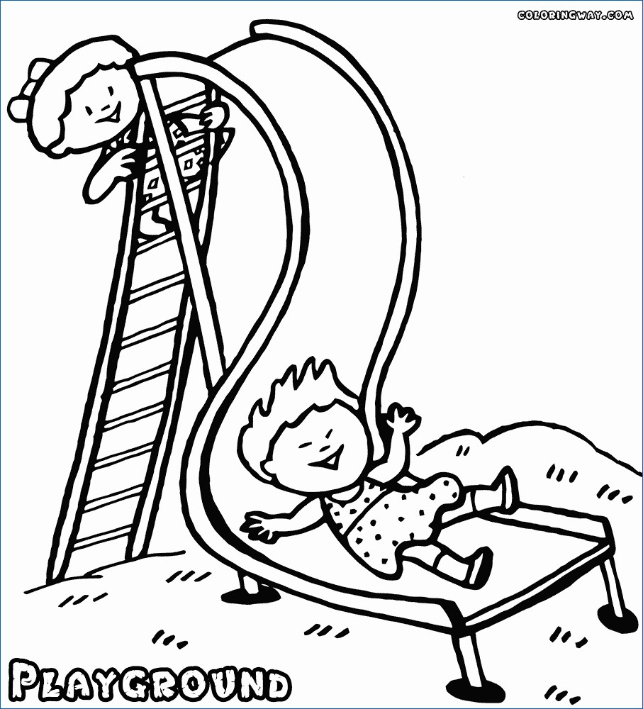 Coloring ~ Playground Coloring Pages New Tourmandu Picture   Free Printable Playground Coloring Worksheets