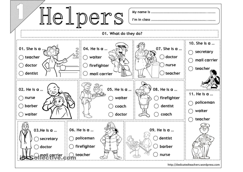 Community Helpers Worksheets के लिए चित्र परिणाम | Free Printable Community Helpers Worksheets For Kindergarten