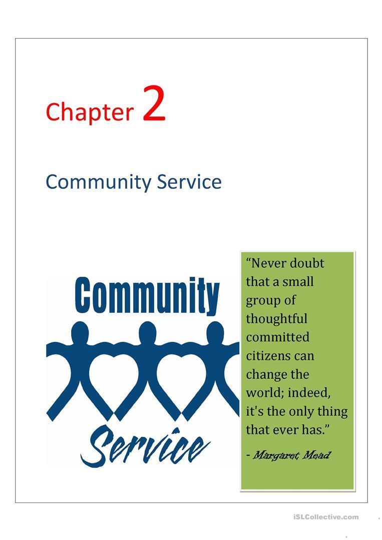 Community Service Worksheet - Free Esl Printable Worksheets Made | Community Service Printable Worksheets