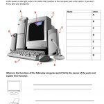 Computer Parts And Their Functions Worksheet   Free Esl Printable | Parts Of The Computer Worksheet Printable