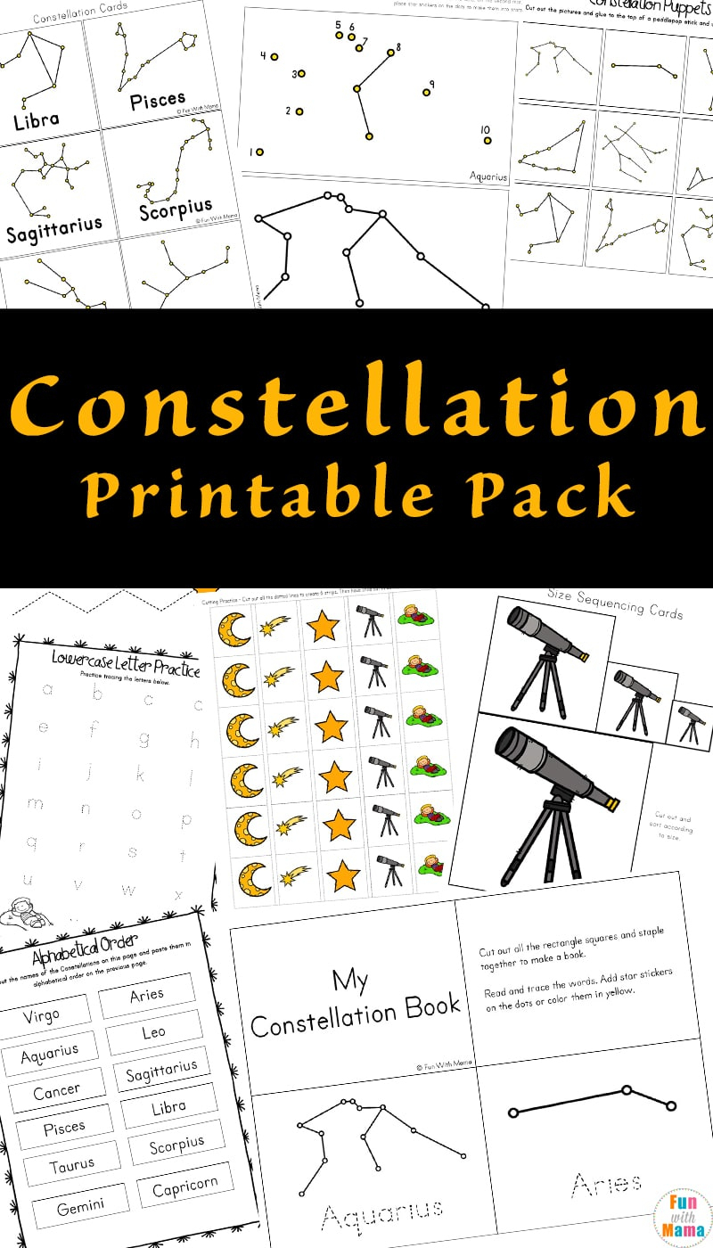 Constellation Printable Pack | Constellations Printable Worksheets