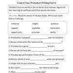 Context Clues Worksheet Writing Part 1 Intermediate | Ela | Context | Free Printable Worksheets For 3Rd Grade Language Arts