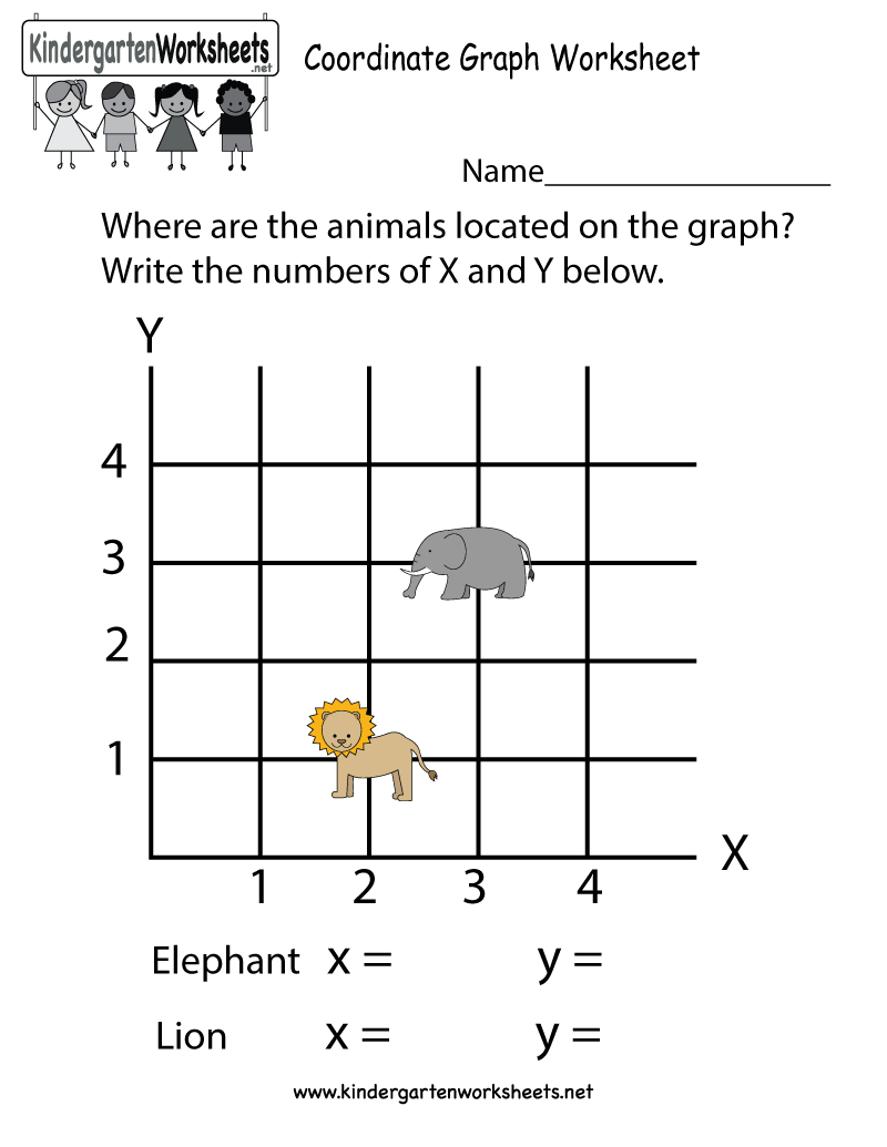 Coordinate Graph Worksheet - Free Kindergarten Math Worksheet For Kids | Free Printable Coordinate Graphing Worksheets