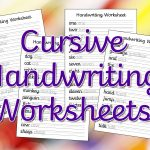Cursive Handwriting Worksheets – Free Printable! ⋆ Mama Geek | Free Printable Cursive Writing Sentences Worksheets