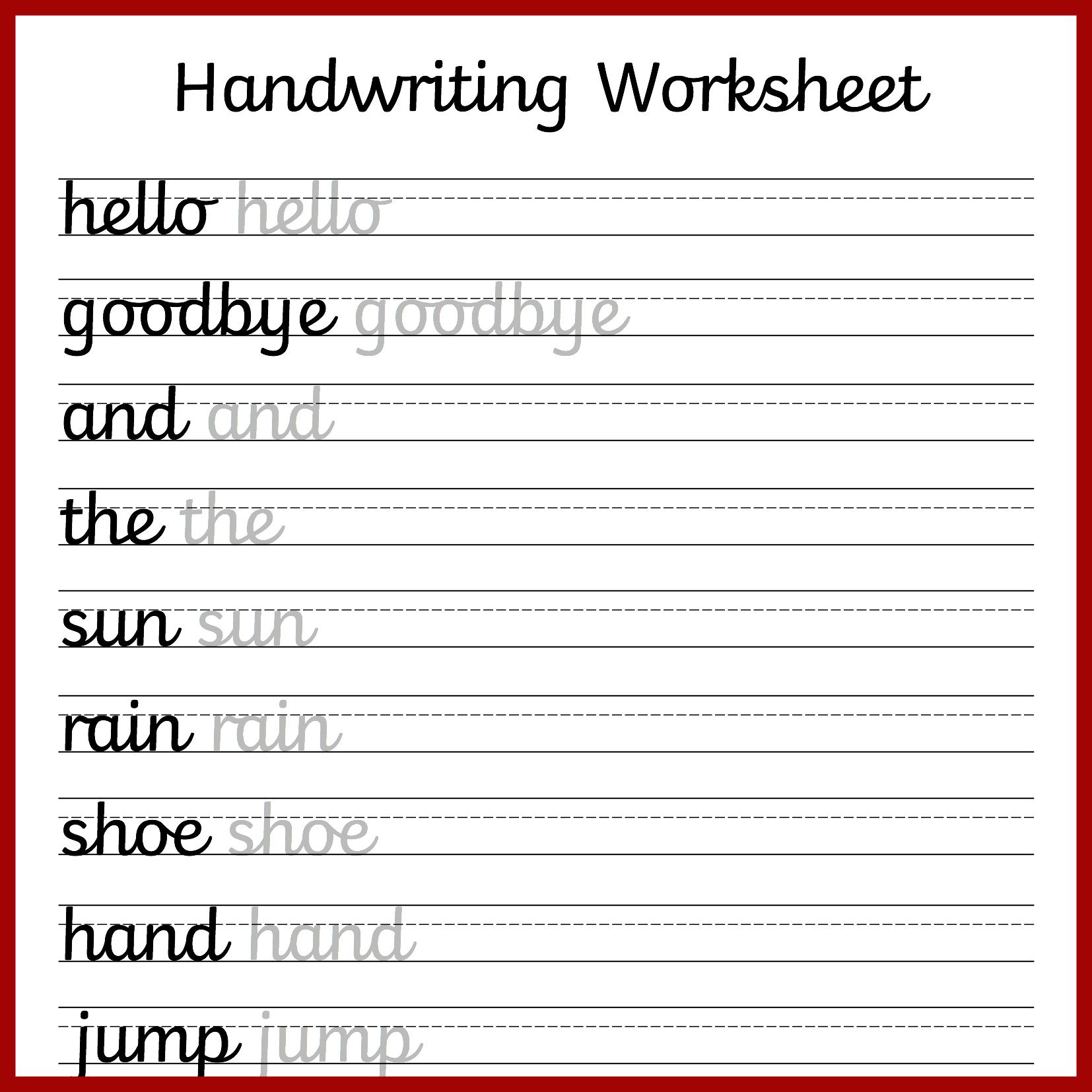 Cursive Handwriting Worksheets – Free Printable! ⋆ Mama Geek - Free | Printable Penmanship Worksheets