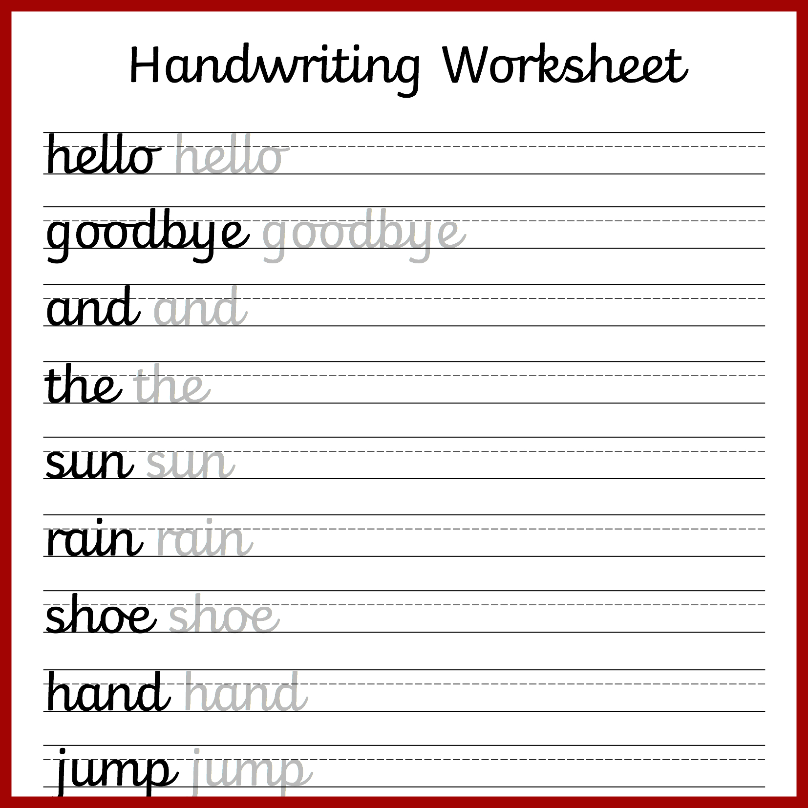 Cursive Handwriting Worksheets – Free Printable! ⋆ Mama Geek | Printable Cursive Worksheets