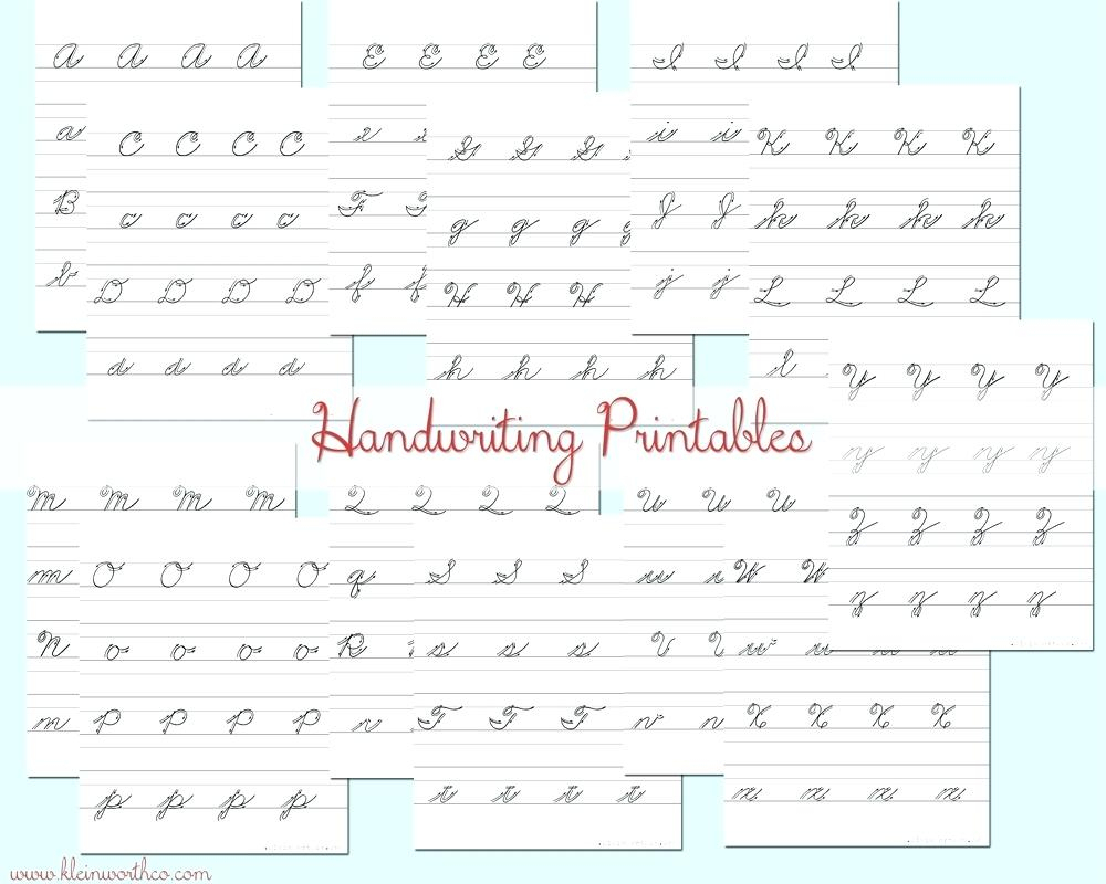 Cursive Writing Worksheets For Left Handed Letterion Pdf Surprising | Printable Handwriting Worksheets Pdf