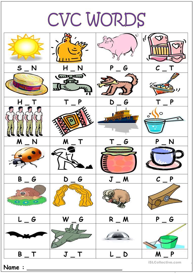 Cvc Words- Medial Sounds Worksheet - Free Esl Printable Worksheets | Cvc Words Worksheets Free Printable