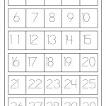 نتيجة بحث الصور عن Tracing Numbers 1 20 | Worksheets | Writing Numbers 1 20 Printable Worksheets