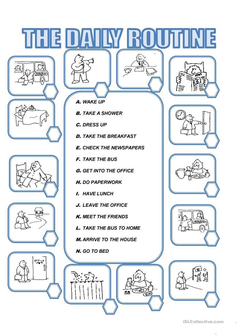 Daily Routine Worksheet - Free Esl Printable Worksheets Madeteachers | Daily Routines Printable Worksheets