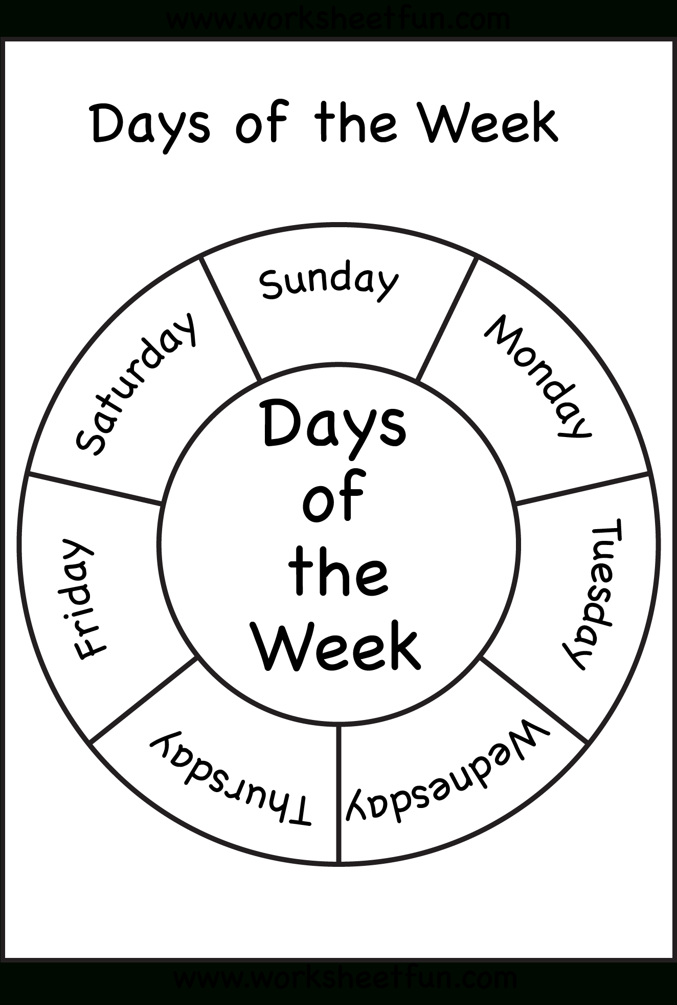 Days Of The Week | Days Of The Week! | Preschool, Preschool | Days Of The Week Printable Worksheets