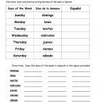 Days Of The Week In Spanish Worksheet   Free Esl Printable | Free Printable Kindergarten Days Of The Week Worksheets