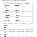 Days Of The Week In Spanish Worksheet   Free Esl Printable | Printable Spanish Worksheets
