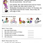 Days Of The Week   Simple Reading Comprehension Worksheet   Free Esl | Free Printable Middle School Reading Comprehension Worksheets