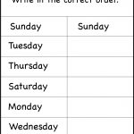 Days Of The Week Worksheet | Printable Worksheets | School | Days Of The Week Printable Worksheets