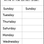 Days Of The Week Worksheet | Printable Worksheets | School | Free Printable Kindergarten Days Of The Week Worksheets