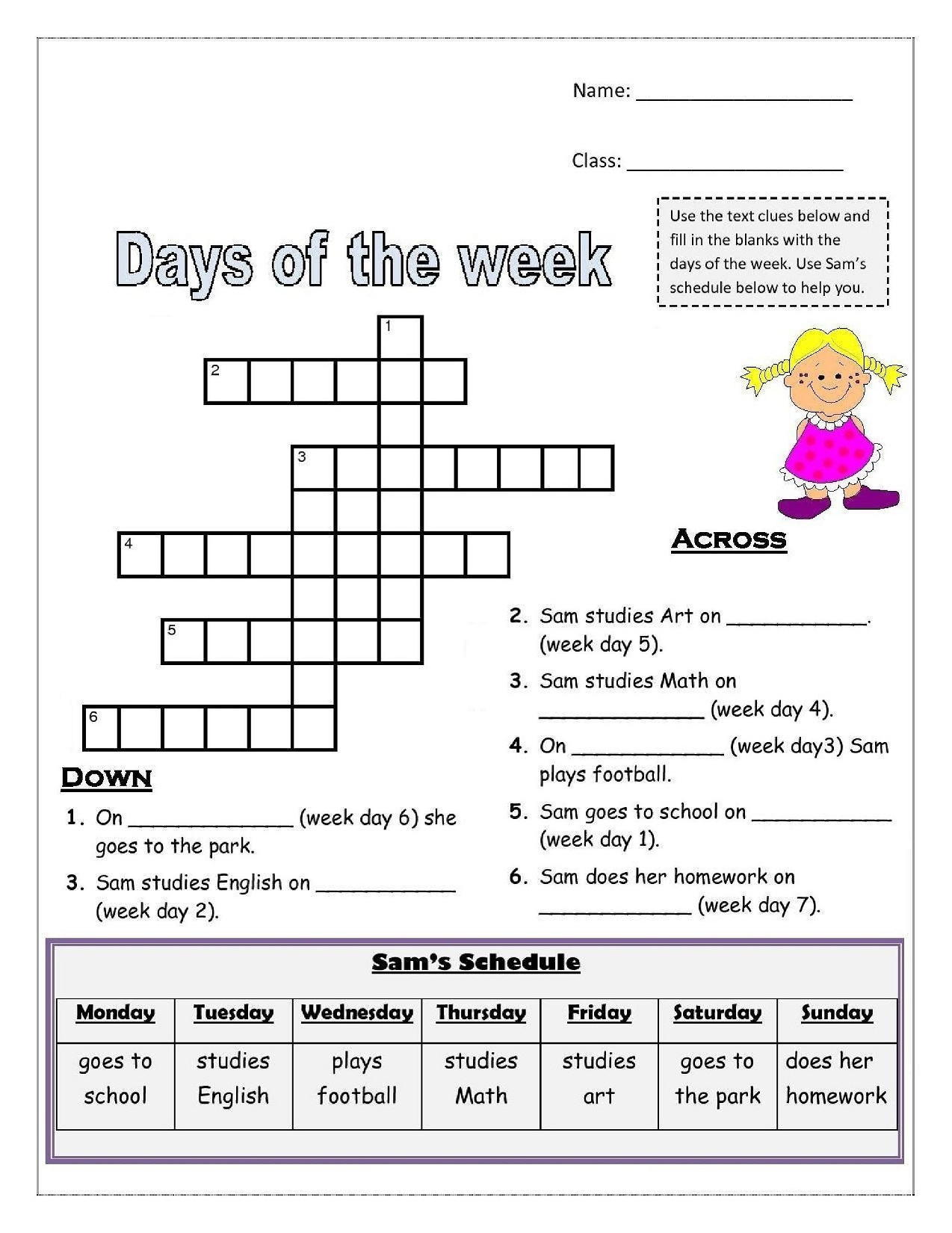 Days Of The Week Worksheets | Activity Shelter | Printable French Worksheets Days Of The Week