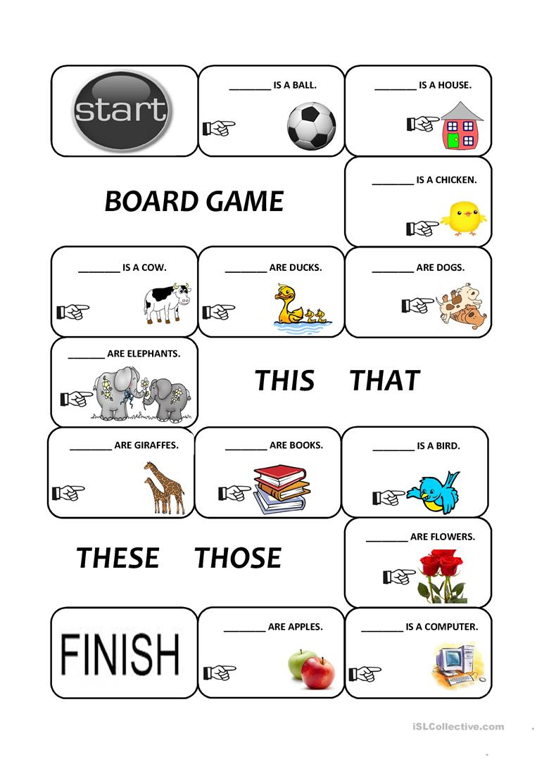 Demonstratives (This, That, These And Those) Worksheet - Free Esl | This That These Those Worksheets Printable